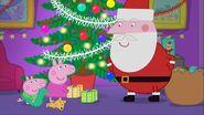 Peppa and George meets Santa