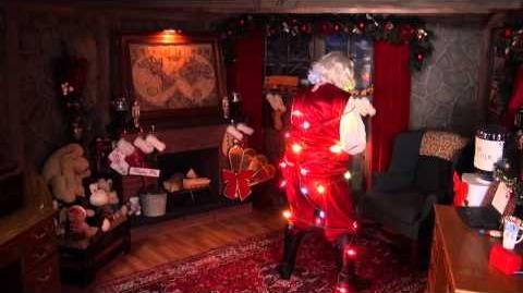 Santa Snooper Webcam Video 005- Santa Gets Tied Up In His Work