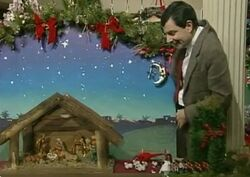 Mr Bean Christmas Nativity