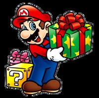 Mario with presents