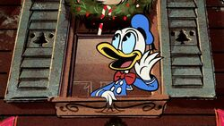 Donald in Duck the Halls