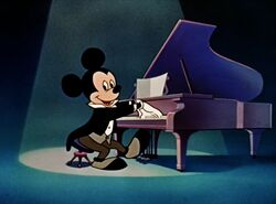 Mickey playing piano