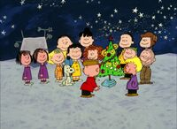 Charlie Brown sees the newly-decorated tree