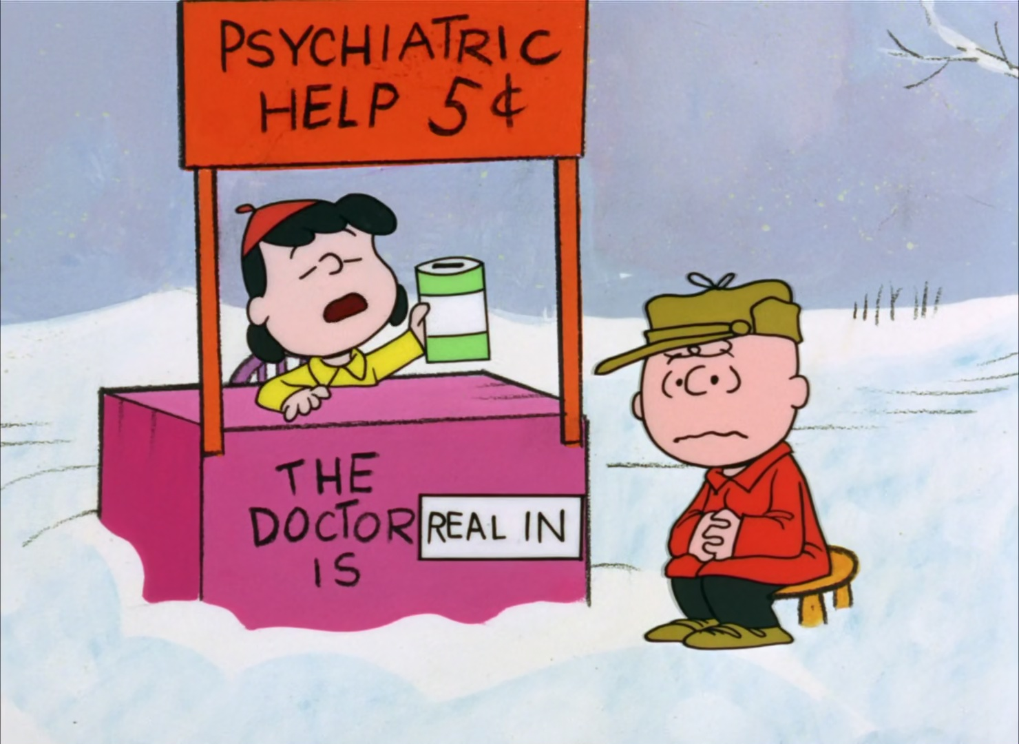 Image result for lucy psychiatric help booth