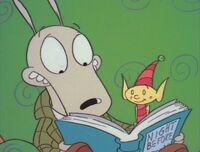 Rocko reads The Night Before Christmas