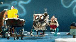 SpongeBob defeating Toybob