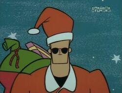 Johnny as Santa