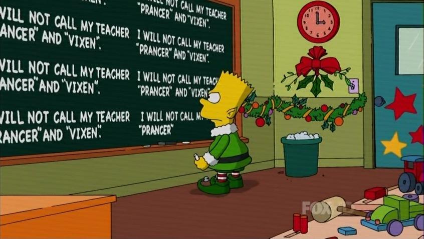 Image - Bart's Christmas chalkboard gag.jpg | Christmas Specials ...