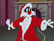 Sylvester as Santa