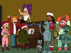 Futurama Christmas group shot
