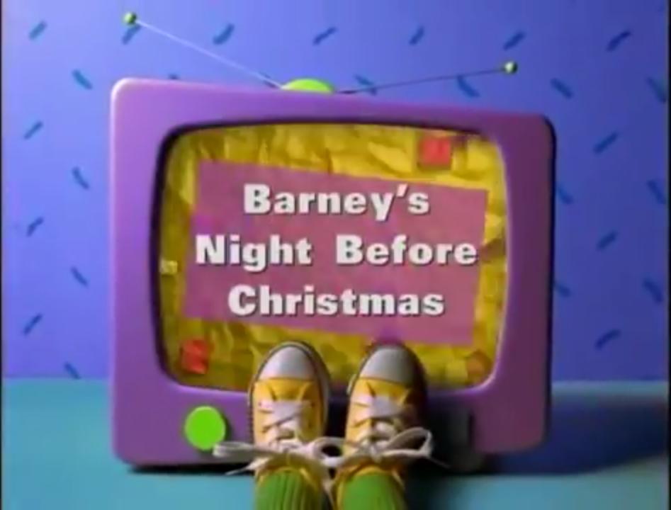 Barney A Very Merry Christmas The Movie Dvd.Barney S Night Before Christmas Christmas Specials Wiki