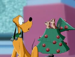 Chip and Dale in Mickey's Magical Christmas