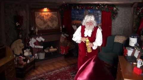 Santa Snooper Webcam Video 002- Santa Claus Bubbles & Exercises