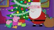 Peppa Pig and George meets Santa