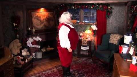 Santa Snooper Webcam Video 007- Santa Gets Frosty with the Elves
