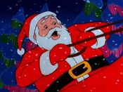 Santa in the Pac-Man Christmas special