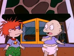 Tommy and Chuckie skip the chimney