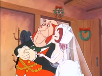 Bertha kisses Tackleton