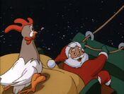 Santa with Chicken Boo