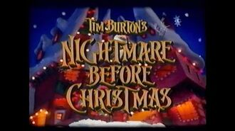 THE NIGHTMARE BEFORE CHRISTMAS MOVIE TRAILER VHS 1993