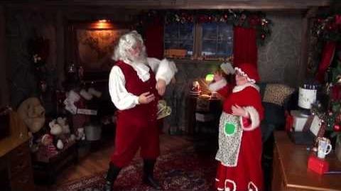 Santa Snooper Webcam Video 012- Dancing Santa Claus has the moves!