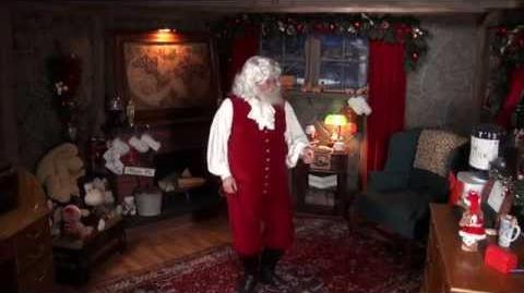 Santa Claus has a little Christmas party on the Santa Snooper!