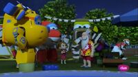Super Wings with Nicole and Santa