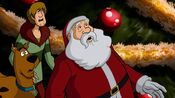 Santa with Shaggy and Scooby