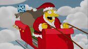 Barney Gumble as Santa