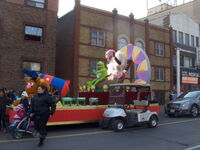 2011 Toronto Santa Claus Parade float pre-parade a