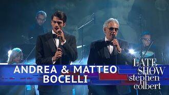 Andrea & Matteo Bocelli Perform 'Fall On Me'