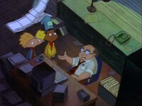 Arnold and Gerald ask Mr. Bailey for help