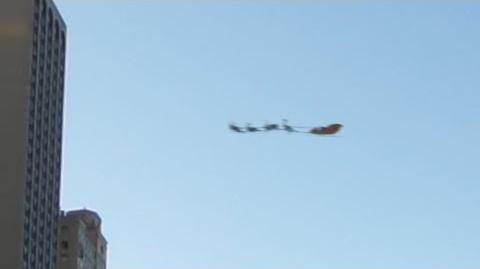 SANTA CLAUS CAUGHT ON CAMERA FLYING OVER NEW YORK CITY ON CHRISTMAS EVE AFTERNOON