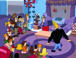 Johnny Bravo Christmas group shot