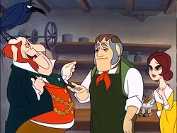 Tacklton gives Caleb and Bertha a Christmas Bonus