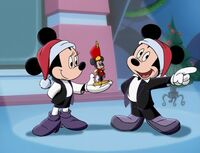 Mickey segues into The Nutcracker
