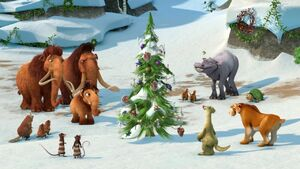 Ice Age Christmas group shot