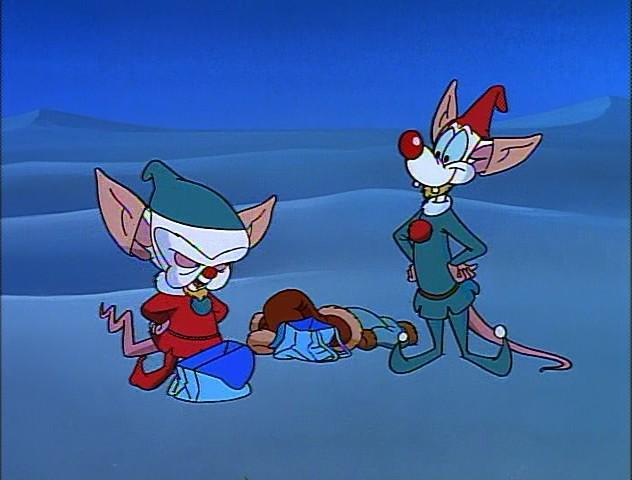 Image - Pinky and Brain disguised as elves.jpg | Christmas ...