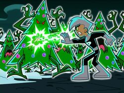 Danny battling evil trees