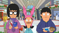 Tina, louise and gene at the mall