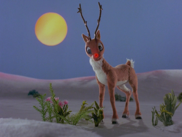 rudolph in santa claus is coming to townjpg - Rudolph And Santa