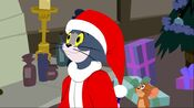 Tom Cat as Santa