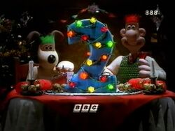 BBC2 Christmas Wallace and Gromit ident