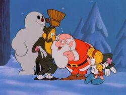 Santa confronts Hinkle