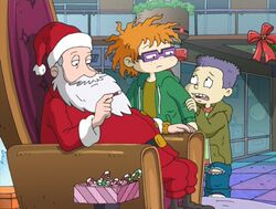 Chuckie and Tommy visit the mall Santa