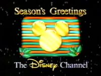 Disney Channel Christmas logo from 1987
