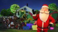 Santa with tired reindeers