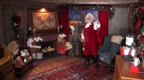 Santa Snooper Webcam Video 016- Santa's flying toy test