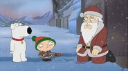 Brian and Stewie with Santa