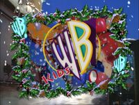 Kids WB logo with Christmas border